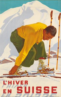 L'Hiver en Suisse - Erich Hermes - ski poster
