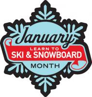 Learn to Ski and Snowboard Month logo