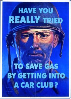 WWII Car Club poster