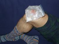 Ice Pack on Knee