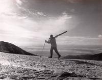 Ernie Blake hiking the Ridge at Taos Ski Valley