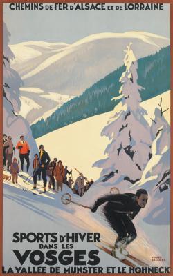 Sports D'Hiver Dan Les Vosges - Roger Broders - ski poster