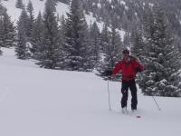David with a big snow smile