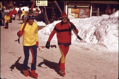 Heading for the Ski Lift, 1974